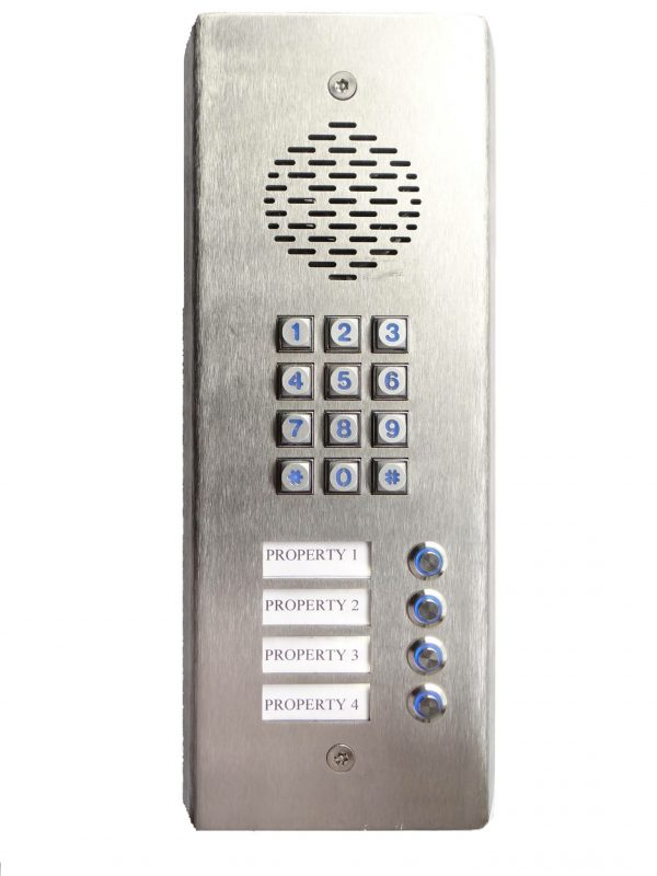 GSM 3G Intercom with 4 buttons and Keypad